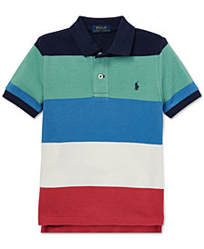 Polo Ralph Lauren Little Boys Striped Cotton Mesh Polo