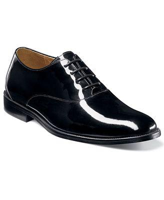 Florsheim Kingston Tuxedo Oxford (Black Patent Leather) Mens Dress Flat Shoes