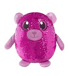 Shimmeez Large Size Benji Bear, Sequin Plush Stuffed Animal