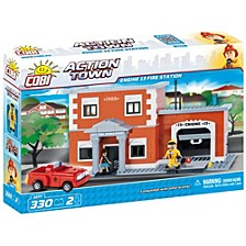 Action Town Engine 13 Fire Station 330 Piece Construction Blocks Building Kit