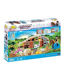 Action Town On The Ranch 350 Piece Construction Blocks Building Farm Kit