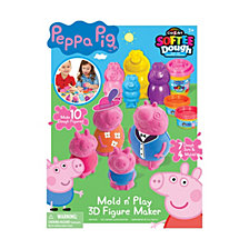 Cra Z Art Peppa Pig Softee Dough Mold n Play 3D Figure Maker