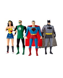 NJ Croce DC Comics Justice League 4 Piece Bendable Figures Set