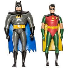 "NJ Croce DC Comics Batman The Animated Series Batman and Robin Action Figure 3"" Bendable Pair"