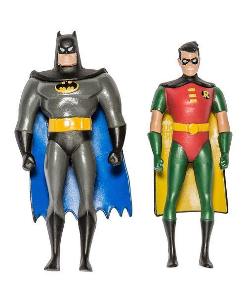 "DC Comics NJ Croce Batman The Animated Series Batman and Robin Action Figure 3"" Bendable Pair"