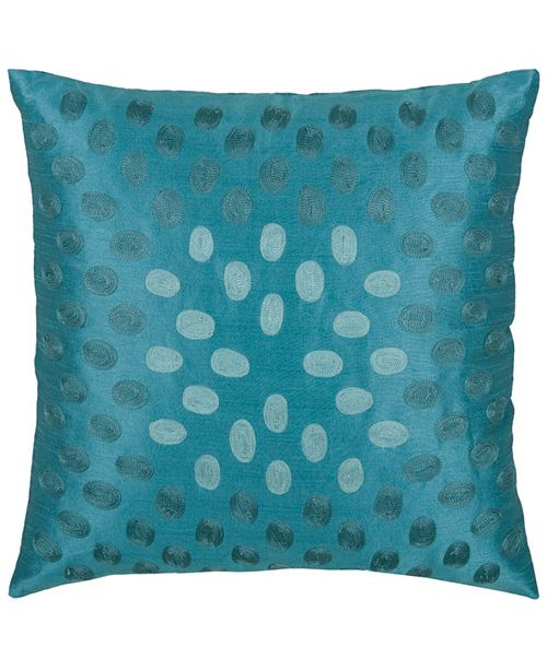 """Rizzy Home 18"""" x 18"""" Modern Down Filled Pillow"""