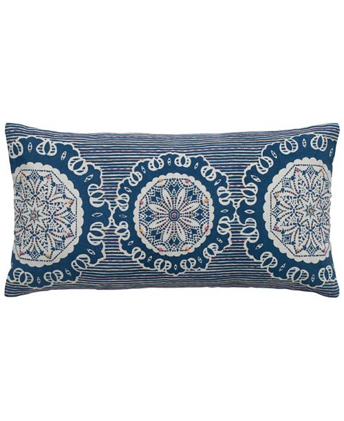 """Rizzy Home 11"""" x 21"""" Medallion Down Filled Pillow"""