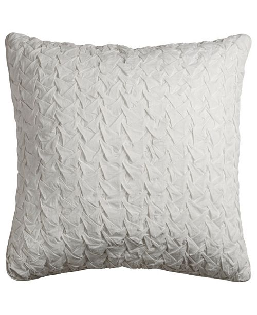 "Rizzy Home Solid 22"" x 22"" Textured Down Filled Pillow"