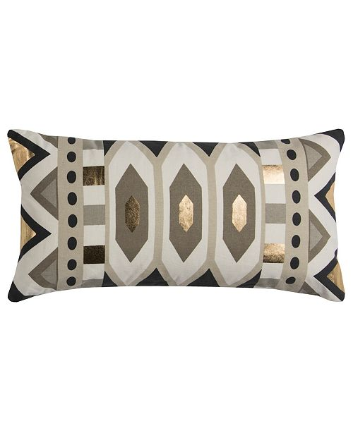"Rizzy Home Rachel Kate 11"" x 21"" Geometrical Design Down Filled Pillow"