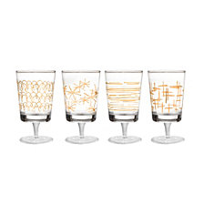 Jay Imports Soiree Gold Wine Glasses - Set of 4