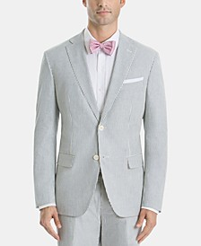 Men's UltraFlex Classic-Fit Stripe Cotton Sport Coat
