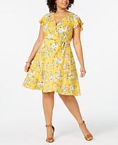 7d2fe3740777a Love Squared Plus Size Floral Wrap Dress