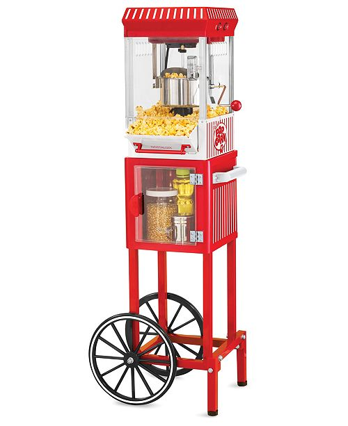 Nostalgia Vintage 2.5-Ounce Popcorn Cart - 45 Inches Tall