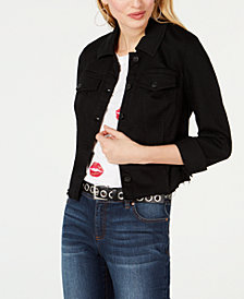 I.N.C. Raw-Edge Jean Jacket, Created for Macy's