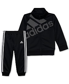 adidas Little Girls 2-Pc. Logo Jacket & Jogger Pants Set