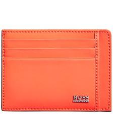 Hugo Boss Men's Signature Matte Leather Cardholder