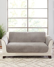 Sure Fit Elegant Pick Stitch Loveseat Protector