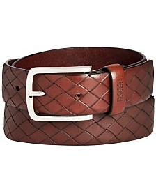 HUGO Men's Jor Woven Leather Belt