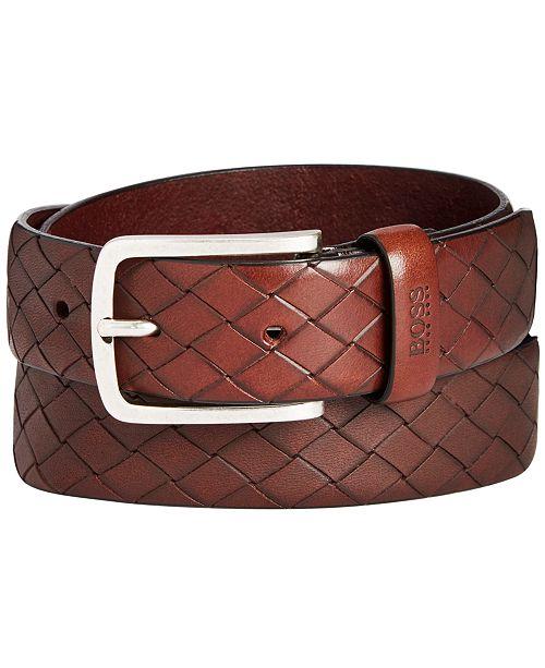 Hugo Boss HUGO Men's Jor Woven Leather Belt