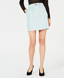 I.N.C. Faux-Suede Mini Skirt, Created for Macy's