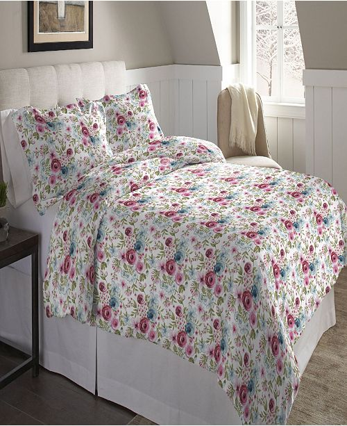 Pointehaven Superior Weight Cotton Flannel Duvet Set - Full/Queen