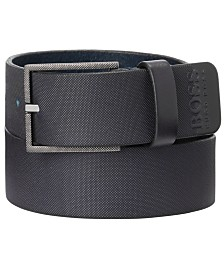 HUGO Men's Trilos Italian Leather Belt