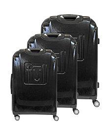FUL Black Panther Icon Molded Hardside 3-Piece Luggage Set