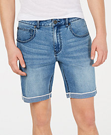 "I.N.C. Men's Cuffed Denim 7"" Shorts, Created for Macy's"