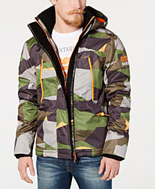Superdry Men's Hooded Polar Wind Attacker Colorblock Camo Jacket