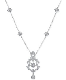 """Diamond (1/4 ct. t.w.) 18"""" Pendant Necklace in Sterling Silver"""
