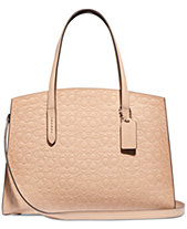 9c6c6a8b8de COACH Charlie Carryall in Signature Leather