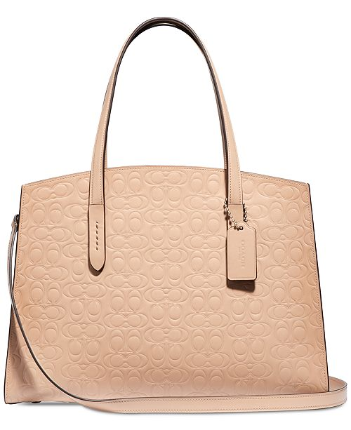 8d8c65052 COACH Charlie Carryall in Signature Leather & Reviews - Handbags ...