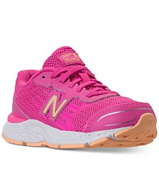 New Balance Girls' 680v5 Wide Width Running Sneakers from Finish Line