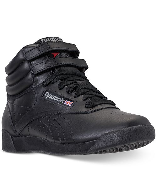 Reebok Women s Freestyle High Top Casual Sneakers from Finish Line ... 4a210af2cb04