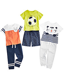 First Impressions Baby Boys Graphic T-Shirts, Marled Shorts & Jogger Pants, Created for Macy's