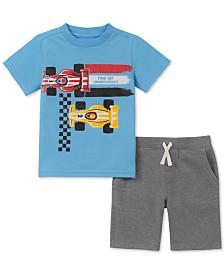 Kids Headquarters Toddler Boys 2-Pc. Race Car Graphic T-Shirt & Shorts Set