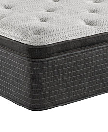 "Beautyrest Silver BRS900-TSS 14.75"" Luxury Medium Firm Pillow Top Mattress - Queen, Created For Macy's"