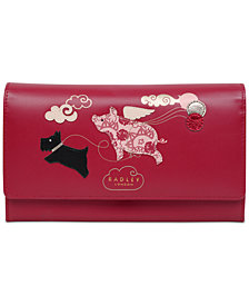 Radley London If Pigs Could Fly Leather Flapover Wallet