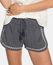 Roxy Juniors' Friends Stories Embroidered Soft Shorts