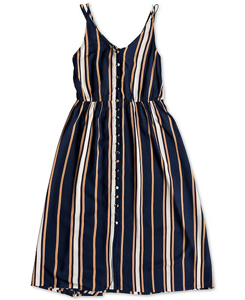 bcb9d846527 Roxy Juniors  Sunset Beauty Striped Strappy Dress   Reviews ...