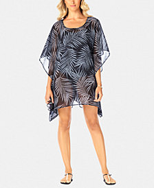 Swim Solutions Printed Caftan Cover-Up, Created for Macy's
