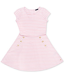 Tommy Hilfiger Toddler Girls Striped Dress