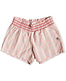 Roxy Little Girls Striped Cotton Shorts