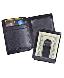 Royce New York Saffiano Money Clip Wallet