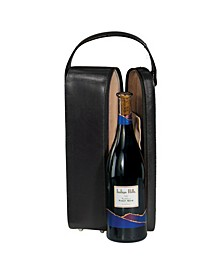 Royce New York Suede Lined Single Wine Carrying Case