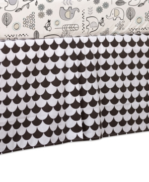 Lolli Living Crib Skirt Bedding In Black Scallop