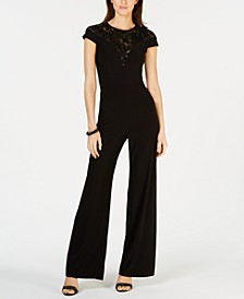 Embroidered Illusion Jumpsuit