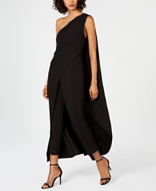 24360cbbd93c Adrianna Papell One-Shoulder Crepe Jumpsuit
