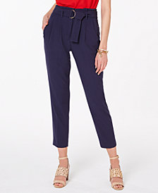 MICHAEL Michael Kors Belted Pants, Regular & Petite