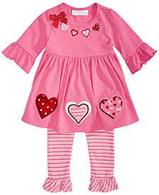 Bonnie Baby Baby Girls 2-Pc. Heart Tunic & Leggings Set